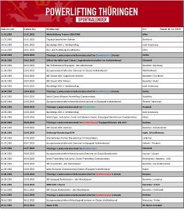 Sportkalender 2020